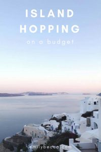 Island hopping on a budget